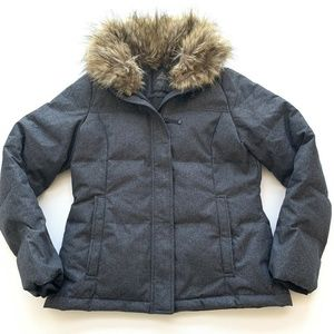 Prana Quilted Puffer Gray Jacket Womens Size Med